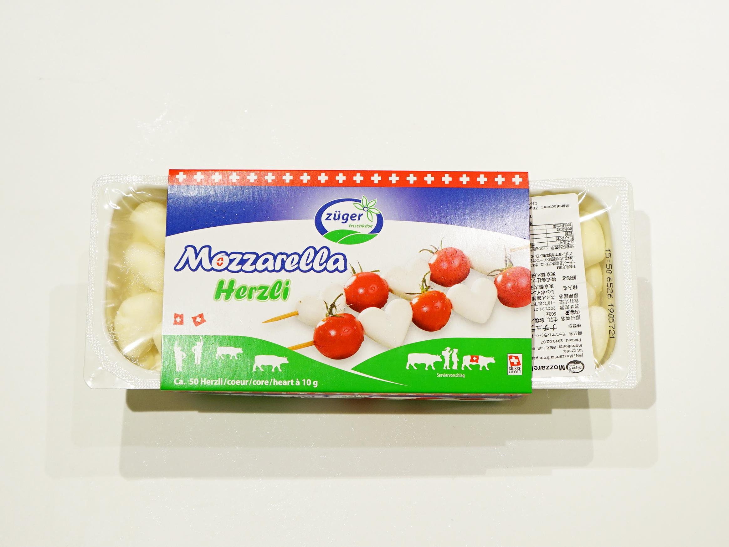 ハート型モッツァレラチーズ
